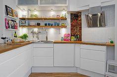 Cozinha Branca, mas Colorida <3