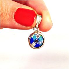 Vintage Sterling Silver Marked Millefiori Murano Glass Italy Pendant Charm Marked c1960 by SevenEyesAntiques on Etsy https://www.etsy.com/listing/264460714/vintage-sterling-silver-marked