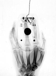 X-ray of hand on computer #mouse by Leslie Wright. #photography #art