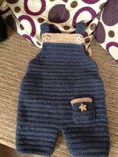 Boys crochet dungarees