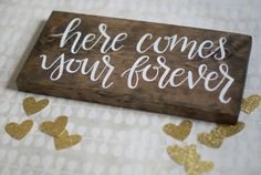 Here Comes Your Forever Ring Bearer Sign Hand by HeartcraftedCo
