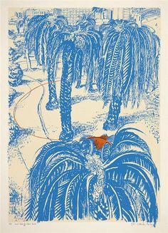 BRETT WHITELEY (The Orange) Fruit Dove in Clark Park 1980 colour screenprint, edition, x cm editioned, titled and signed below image Estimate Painting Inspiration, Art Inspo, Kawaii Illustration, Portraits, Art Walk, Indigenous Art, Art Market, Contemporary Art, Contemporary Australian Artists