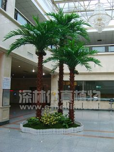 Source Life size cheap artificial big trees landscape plastic fake ...