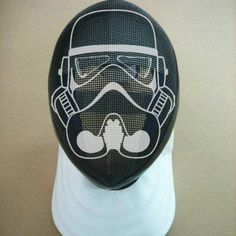 Fencing mask painted as star trooper . it doesn't fit this board but it is too cool! The Fencer, Fencing Mask, Historical European Martial Arts, Star Troopers, Fencing Sport, John Boy, Mask Painting, Star Wars, Mask Design