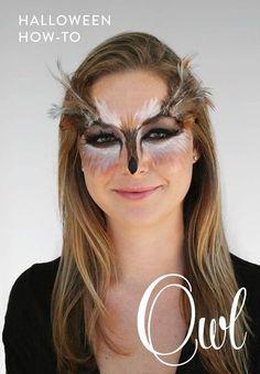 An Owl Makeup Tutorial for Halloween