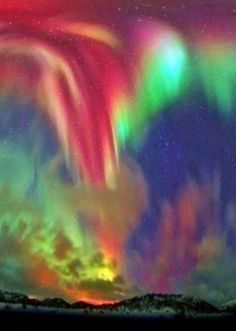 Northern Lights over Norway (Amazing Nature - Google+) Wow... amazing and beautiful.