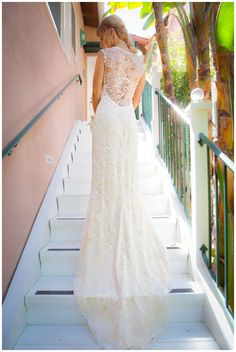 beautiful back on this lace embellished gown