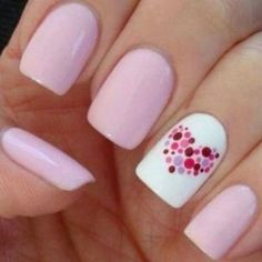pink, white & dotted heart http://followingyourbeauty.wordpress.com/2014/01/20/unghie-con-mille-cuori-per-san-valentino-♡/
