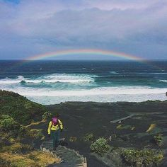 Hotels-live.com/pages/hotels-pas-chers - Judging from this shot by @angypangyx a pot of gold just might be waiting for those who take on the track to South Cape Bay deep within @Tasmania's Southwest National Park! Commencing at the end of Australias mo