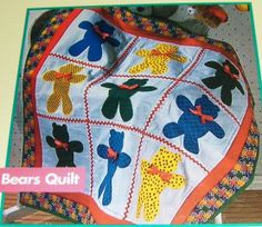 Teddy Bear Quilt Pattern | Baby Quilt Patterns Teddy Bear Kitty Cat Paper Dolls - Ad#: 97266 ...