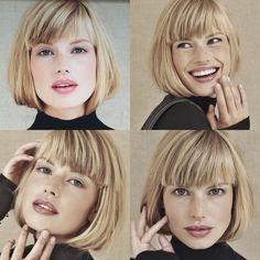 Pin af Sandra Dom på kort hår i 2019 - - Hallo Short Haircuts With Bangs, Bob Haircut With Bangs, Hairstyles With Bangs, Short Hair Cuts, Short Hair Styles, Bob Haircuts, Pinterest Hair, Grunge Hair, Great Hair