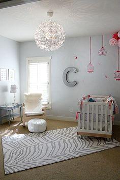 cute nursery for twins oversized wicker pendant light gray walls rh pinterest com