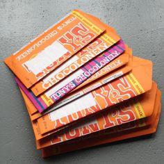Recycle, paper, envelope template / Tony's Chocolonely's enveloppen, gemaakt met de enveloppe mal van Flow Magazine // VAN BRITT