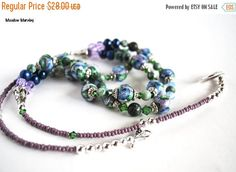 On Sale Navy Blue Flower Necklace with Agate by polymerclaybeads