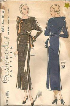 1935 batwing dress