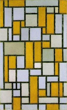 """Oil painting reproductions of Mondrian, Piet's famous painting """"Composition with Gray and Light Brown"""". Mondrian, Piet has some of the most remarkable oil paintings to his credit. One of the most well know oil paintings by Piet, Mondrian. Piet Mondrian, Mondrian Kunst, Theo Van Doesburg, Dutch Painters, Art Academy, Dutch Artists, Famous Artists, Art Abstrait, Kandinsky"""