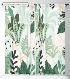 Into the jungle II by Gale Switzer #blackout #curtain #home #decor #ideas #interior #design #jungle #green #color #fun #minimal Blackout Windows, Blackout Curtains, Window Curtains, Curtain Rods, Minimal, Decor Ideas, Interior Design, Green, Fun