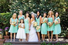 Gorgeous bright colored bridesmaids dresses that are perfect for your summer wedding. #LVWGS #bridesmaids