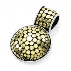 Signed Designer JOHN HARDY Dot Collection Pendant in Sterling Silver & 18K…
