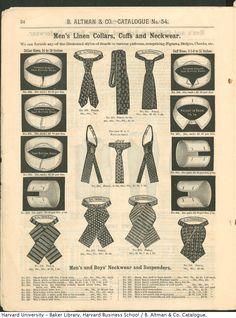 Men's Linen Collars, Cuffs and Neckwear from B. Altman & Co. Winter 1886-87 Catalogue