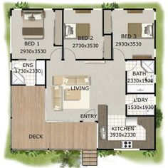 73 Best 3 Bedroom House plans images in 2019 | Bedroom house plans ...