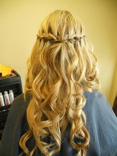 awesome two waterfall braids meet in the middle