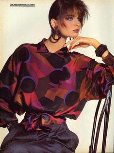 Fall American Style, Better Than Ever! Photo Irving Penn Models Paulina Porizkova, Kim Alexis, Kim Williams US Vogue September 1984 1980s Fashion Trends, 80s Trends, 80s And 90s Fashion, Retro Fashion, Fashion Models, Vintage Fashion, Ladies Fashion, Vintage Style, Look 80s