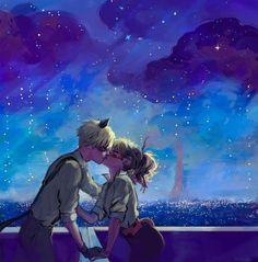 Chat Noir and Ladybug kiss ♥