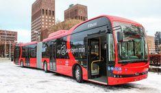 Los autobuses articulados eléctricos producidos por BYD, comenzaron a prestar servicio en Oslo, Noruega, representando a las primeras unida...