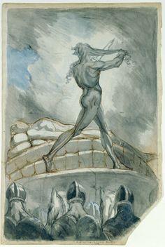 Johann Heinrich Füssli (1741–1825), Achilles Sacrificing his Hair on the Funeral Pyre - 1800/05
