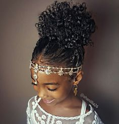High puff- Natural hairstyles for kids