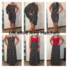 6 ways to wear the LulaRoe maxi skirt #outfits LulaRoe Amy Hatchett