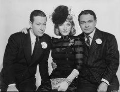 Marlene Dietrich in Manpower wearing Joseff Hollywood Jewelry