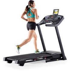 """ProForm Treadmill Performance 400i Powered by iFit with 18 Workout Apps, EKG Grip Pulse Heart Rate Monitor and 2.5 CHP Mach Z Motor, Great for Home Gym. 1.9"""" Precision Machined and Balanced Non-Flex Rear Roller. 2.5 CHP Mach Z Motor, Rounds Watts LED Display, 20"""" x 55"""" Tread Belt, ProShox Cushioning SpaceSaver Design. iFit Bluetooth Smart Enabled, Compatible Music Port for iPod, 0-10 MPH QuickSpeed Control, 0-10 percent Quick Incline Control. 18 Workout Apps, Grip Pulse EKG Heart Rate..."""