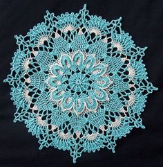 Sea Foam Textured Doily – Free crochet doily pattern<<< would make really cool snowflakes Free Crochet Doily Patterns, Granny Square Crochet Pattern, Crochet Squares, Crochet Motif, Crochet Designs, Crochet Coaster, Thread Crochet, Crochet Crafts, Crochet Stitches