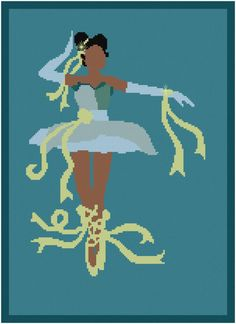 BOGO FREE! Princess Tiana Cross Stitch Pattern/princess and frog/frog princess/princess tiana/tiana princess frog/disney princess #01-037 CROSS STITCH PATTERN (Intermediate Level / INTERMEDIATE LEVEL) (Patterns are in both Single page and multi-page enlar