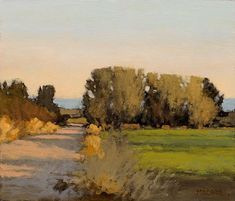 Evening Near Rommie's, 6 x 7 inches, oil on panel. Marc Bohne #LandscapePaintings