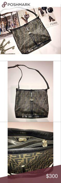 5c4c4ab509156 100% Authentic Vintage zucca Fendi bucket purse 100% AUTHENTIC FENDI  SHOULDER PURSE Style