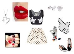 """""""Mickey Mouse Collection"""" by kashawna-watson ❤ liked on Polyvore featuring RED Valentino, Anya Hindmarch, Disney, Disney Couture, Charlotte Tilbury, The Bradford Exchange and mickeymouse"""