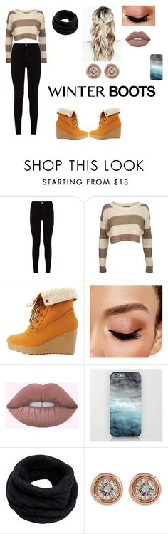 """""""Winter Boots"""" by kenzie-adeline ❤ liked on Polyvore featuring 7 For All Mankind, Pilot, Bamboo, Avon, Helmut Lang and Ron Hami"""