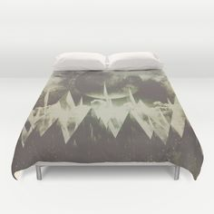 Buy ultra soft microfiber Duvet Covers featuring When mountains fall asleep by HappyMelvin. Hand sewn and meticulously crafted, these lightweight Duvet Cover vividly feature your favorite designs with a soft white reverse side.