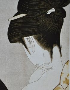 Girl powdering her neck (detail), 1785 - Utamaro Kitagawa