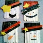 DIY Popsicle Stick Snowman Craft For Kids