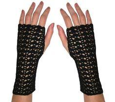 Striping Shells Fingerless Gloves - PDF Crochet Pattern. $3.95, via Etsy.