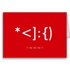 friki de santa tarjeta de navidad emoticon 7