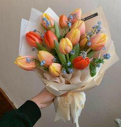 Beautiful Bouquet Of Flowers, My Flower, Beautiful Flowers, Flower Boquet, Tulip Bouquet, Pink Flowers, Cactus Plante, Flower Aesthetic, Planting Flowers