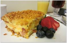"""I make this """"Breakfast Bake"""" for just about every special occasion we celebrate. Christmas, Easter, overnight guests, brunch, whenever we are in the mood for this easy dish I will whip it up. Baked Breakfast Recipes, Breakfast Bake, Breakfast Casserole, Breakfast Dishes, Breakfast Ideas, Cereal Recipes, Casserole Recipes, Baking Recipes, Easy Meals"""