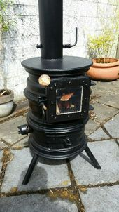 Terrific Screen Pellet Stove how to make Suggestions Pellet stove tops are the way to spend less and make heated throughout those people idle cold months of winter. Gas Bottle Wood Burner, Wood Burner Stove, Diy Wood Stove, Wood Stoves, Rim Fire Pit, Fire Pit Grill, Fire Pit Backyard, Wood Stove Heater, Pellet Stove