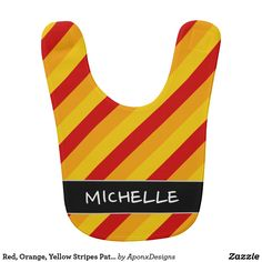 Protect your bundle of joy's clothing with Red Orange Yellow Stripes Pattern baby bibs from Zazzle. Choose from an array of designs and colors to ensure this bib stands out! Yellow Stripes, Orange Yellow, Baby Bibs, Baby Patterns, Red, Color, Design, Bibs, Baby Models