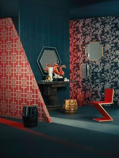 35 Luxury and Well-designed New Chinese Interior Decor Will Inspire You – Page 3 of 35 - Chinese Ideen Modern Chinese Interior, Modern Asian, Design Exterior, Interior And Exterior, Interior Styling, Interior Decorating, Lit Wallpaper, New Chinese, Chinese Style